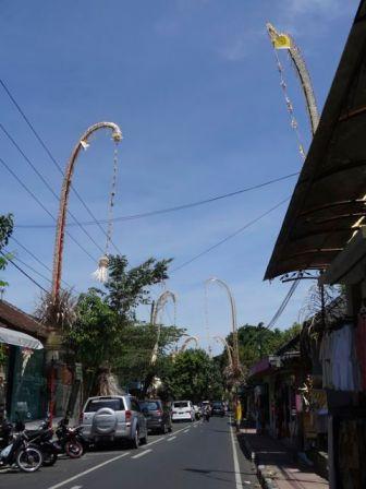 street decorations during Galungan & Kuningan