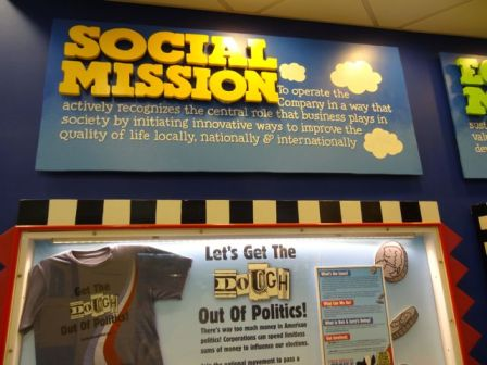 Merchandise at Ben and Jerry's Ice Cream Factory
