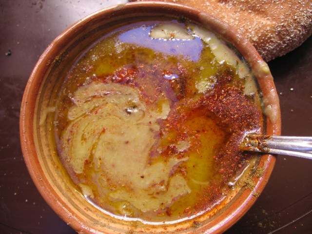 Bisara, a fava bean soup, a specialty of Fes.