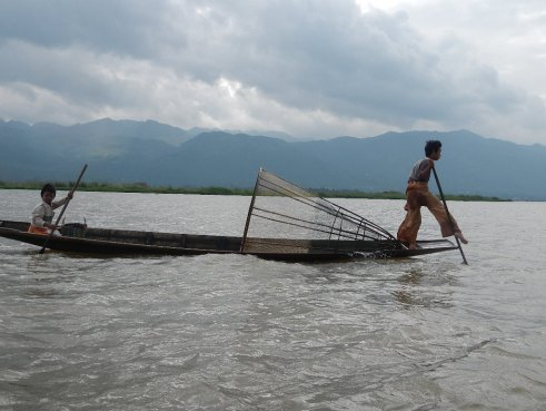 Daily commuters on Inle Lake