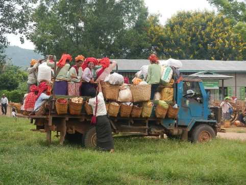 Produce market in one of the villages on Inle Lake