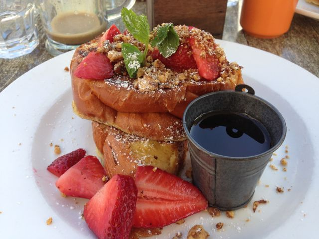 French toast with California strawberries