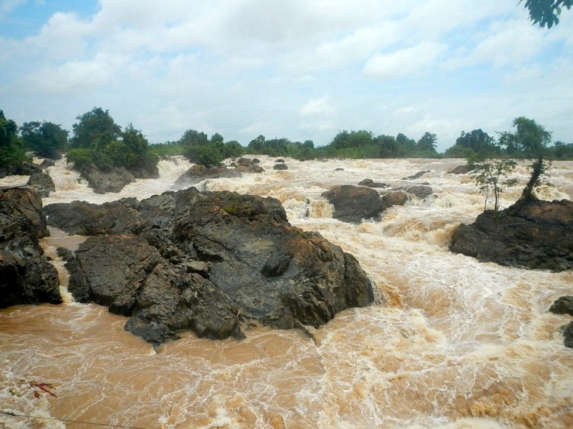 Tat Somphamit, largest waterfall, by volume, in Southeast Asia.