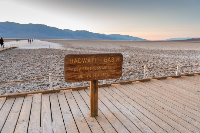 Death Valley Badwater Sign