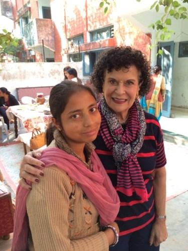 elizebeth volunteering at savers india