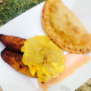 Chazito's Cuban Food truck from Savannah, GA served up some delicious empanadas con pollo, tostones, and maduros