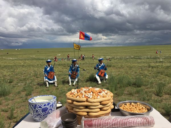 mongolian snacks at Naadam