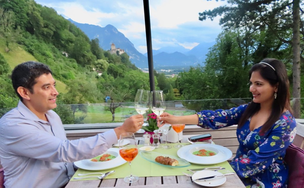 Romantic dinner at Restaurant Maree, located at Park Hotel Sonnenhof