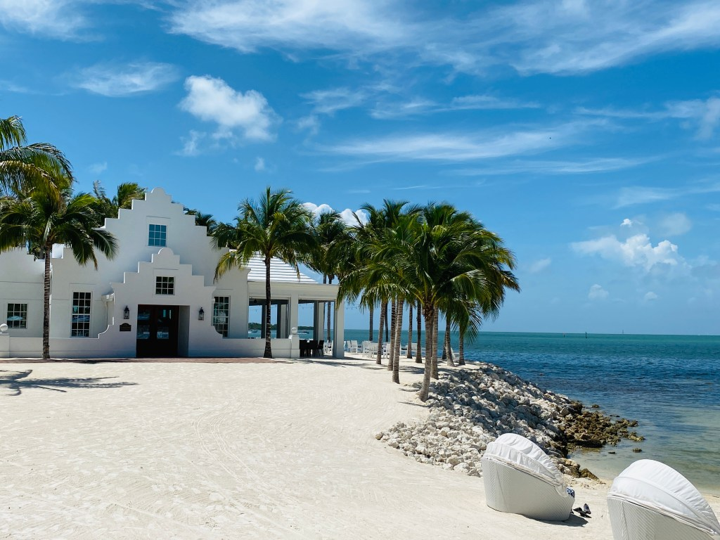 Florida Keys have manmade white sandy beaches
