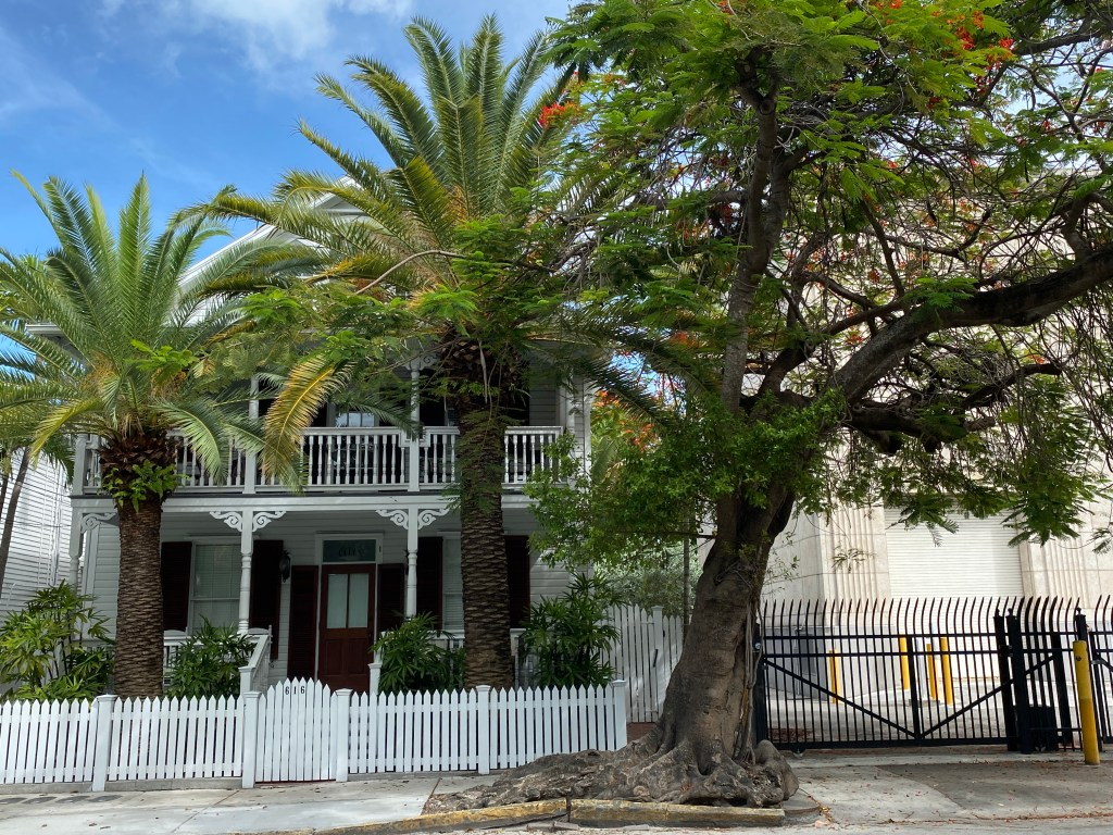Historic streets of Key West are great for walking