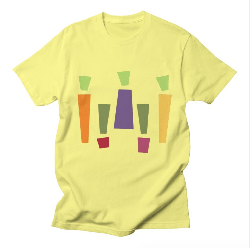 abstract vegetable tee