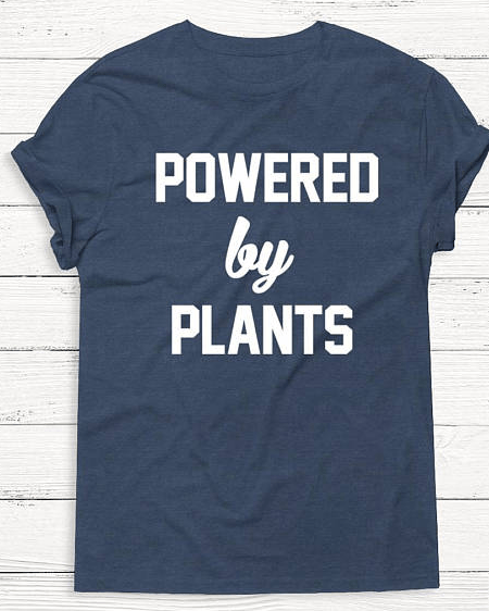 powered by plants tee