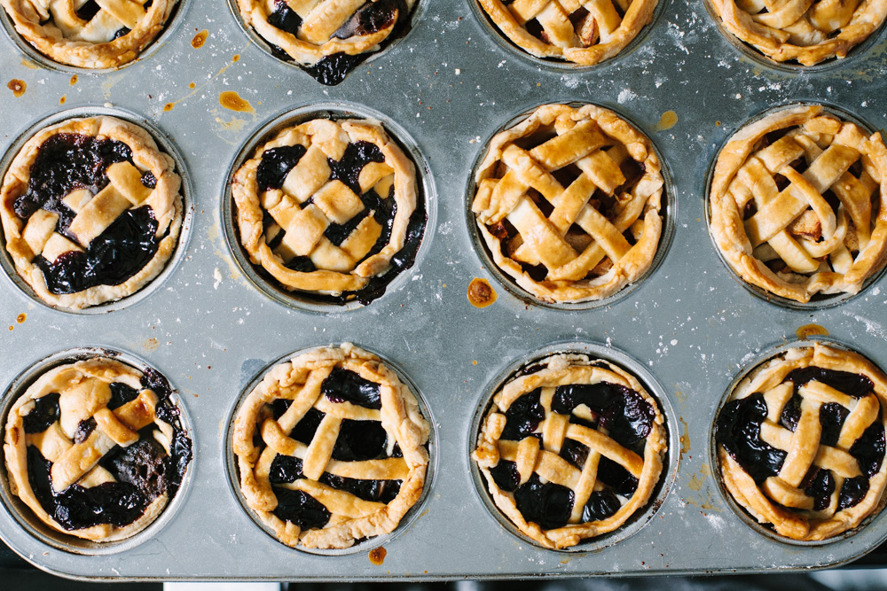 Fourth of July Desserts: Mini Lattice Pies
