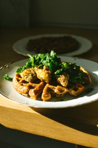 A Healthier Chicken and Waffles Recipe