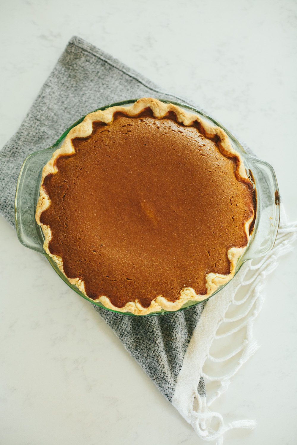 FAVORITE pumpkin pie with homemade puree and all-butter crust