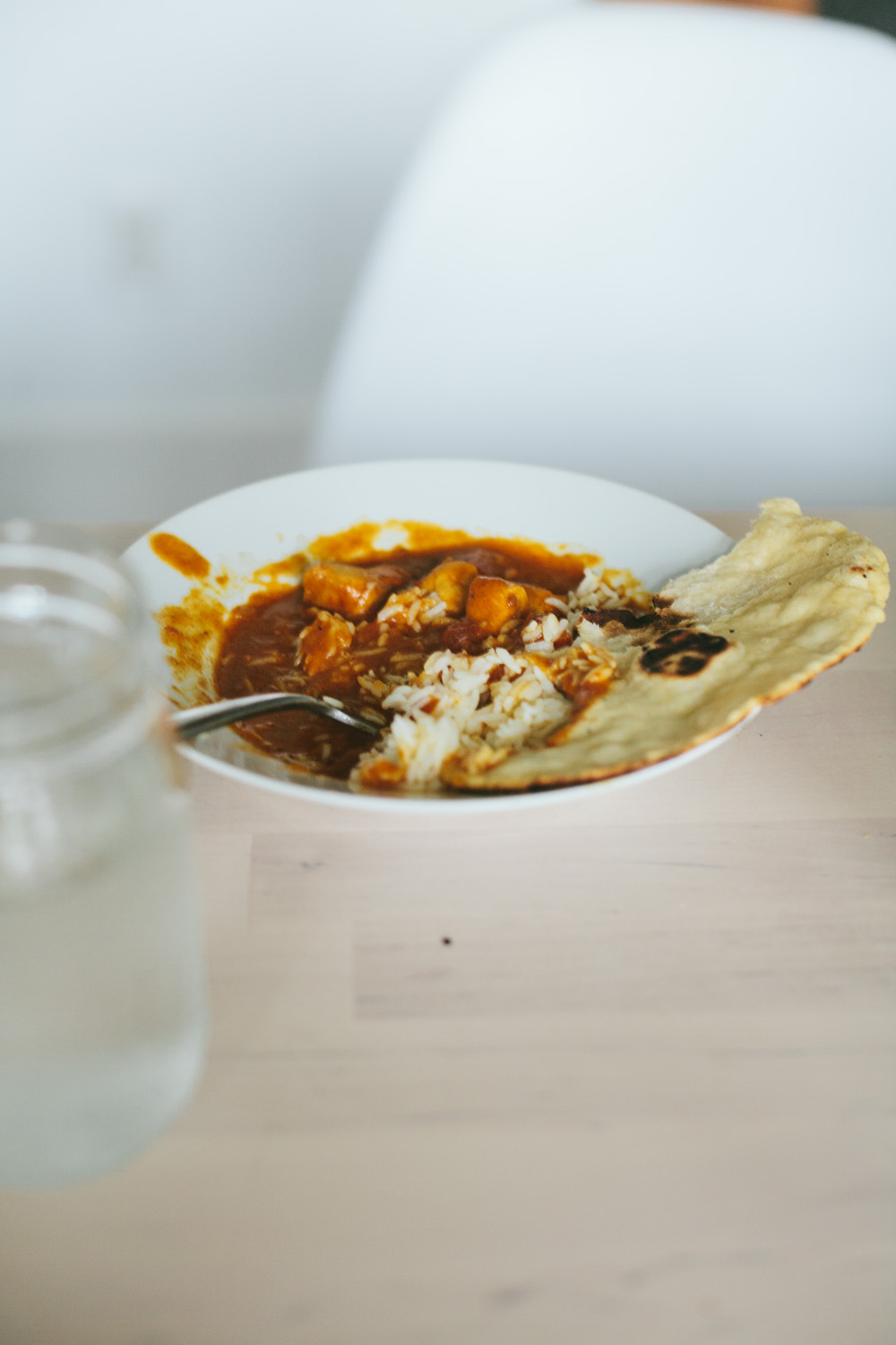 instapot butter chicken and naan