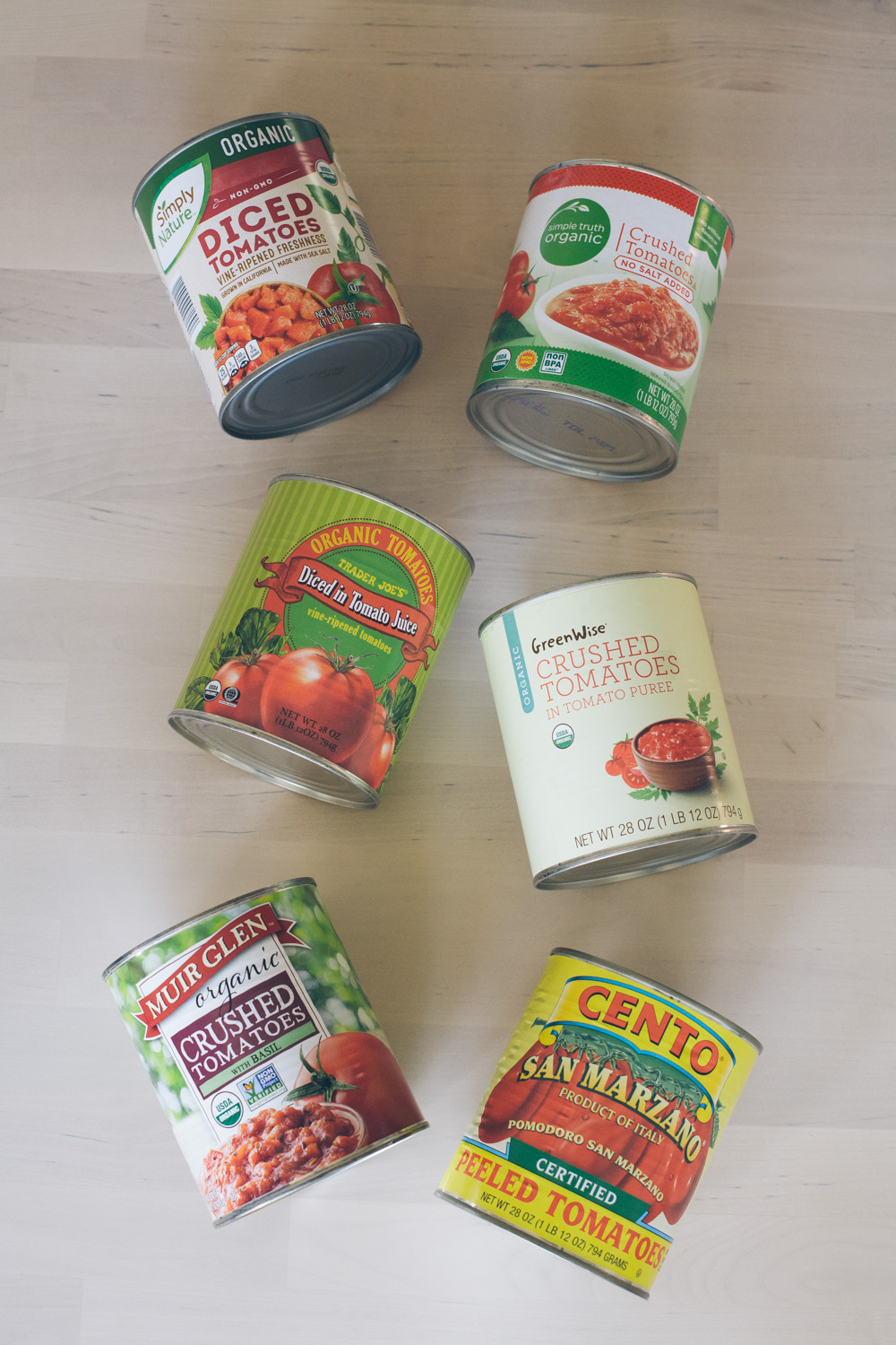 A comparison of four cans of tomatoes in homemade tomato sauce / Go Eat Your Bread with Joy