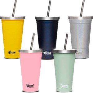 Cheeki Insulated Tumbler with Lid Straw