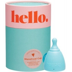 The Hello Cup Menstrual Cup, Blue Small Medium