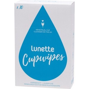 Lunette Menstrual Cup Disinfecting Wipes, 10pk
