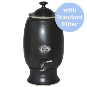 Southern Cross Pottery Ceramic Water Purifier with Standard Filter Stoney Black 12L