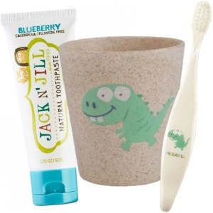 Jack N Jill Toothbrush, Cup and Toothpaste Combo Dinosaur
