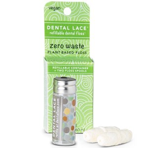 Dental Lace Vegan Dental Floss in Glass Container