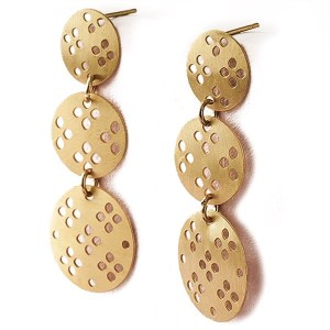 Matr Boomie Brass Earrings Chameli Blossom Drop