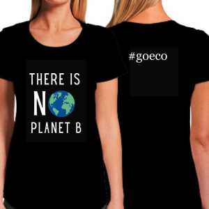 Go Eco There is No Planet B Fitted Black T-shirt