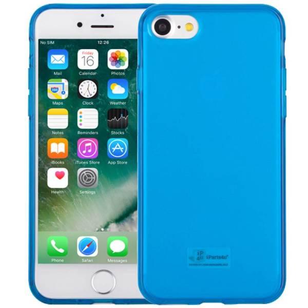 iPhone 8/7 Hoesje Siliconen Blauw Transparant