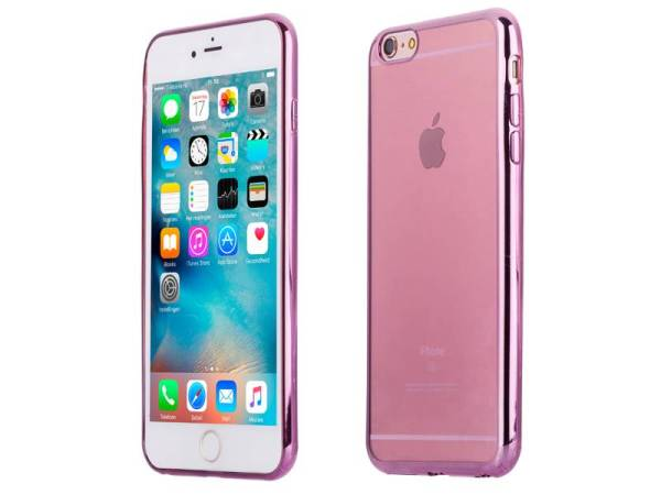 Siliconen iPhone 6 Plus/6S Plus Bumper Case Ultra Dun Roze