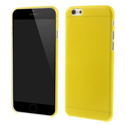 Ultra dunne premium Backcover Case iPhone 6 Plus Geel