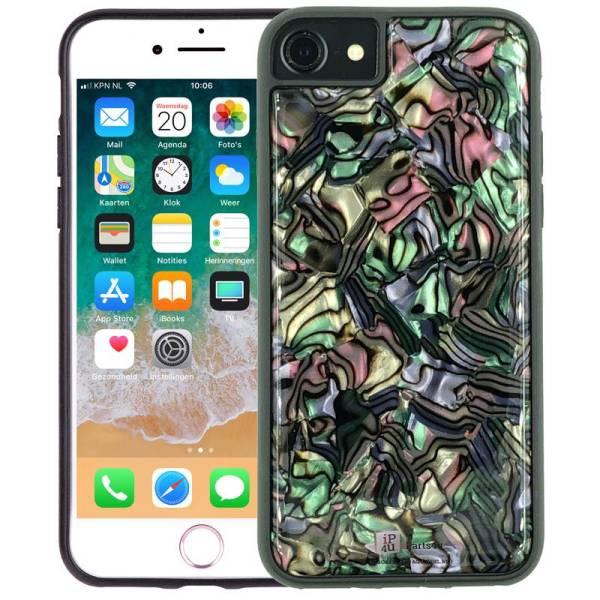 iPhone 8/7/6S/6 Siliconen Hoesje Schelp Snippers Parelmoer Zwart