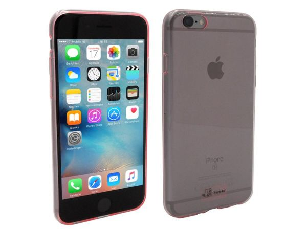 iPhone 6S Hoesje Ultra Dun Siliconen Roze Transparant