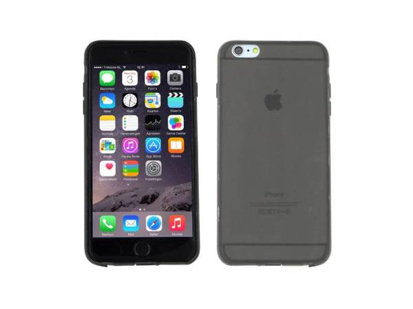 iPhone 6 Plus Hoesje Bescherming Uitgangen Zwart Mat Transparant
