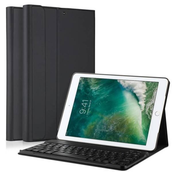 Toetsenbord iPad (2017) Hoes Case Uitneembaar 2 in 1 Zwart 9.7 inch
