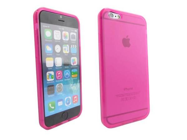 Siliconen Gel TPU iPhone 6 en 6S Hoesje Roze Mat Transparant