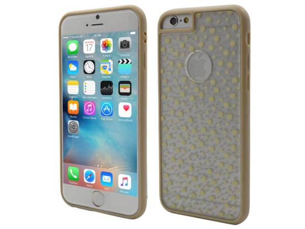 iPhone 6/6S Hard Case Hoes Dalmatier Verfspetters Beige