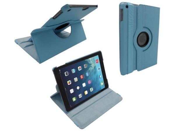 iPad 2017/iPad Air Hoes Draaibaar 360 Graden Lichtblauw