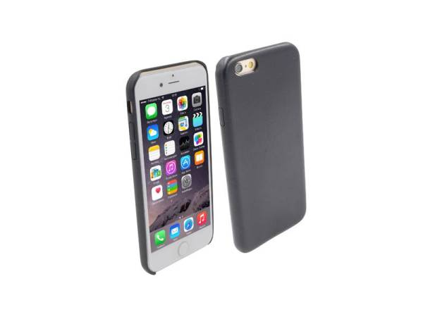 Ultra dunne Vinyl Lederen Backcover Case iPhone 6 Zwart