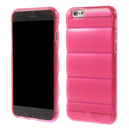 Siliconen Gel TPU iPhone 6 en 6S Body Armor Hoesje Roze Transparant