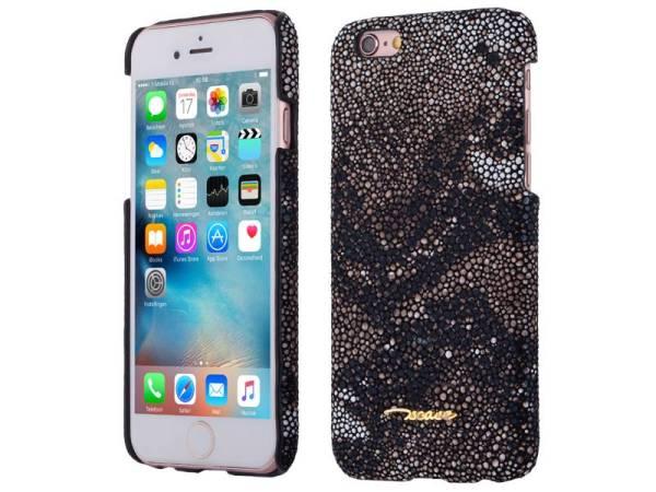 iPhone 6 en 6S Hardcase Hoesje Leder Slang Motief Bruin