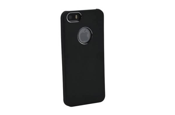 iPhone SE/5S/5 Hardcase Logo Hoesje Zwart Aluminium