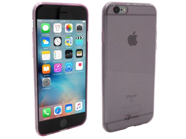 iPhone 6S Hoesje Ultra Dun Siliconen Paars Transparant