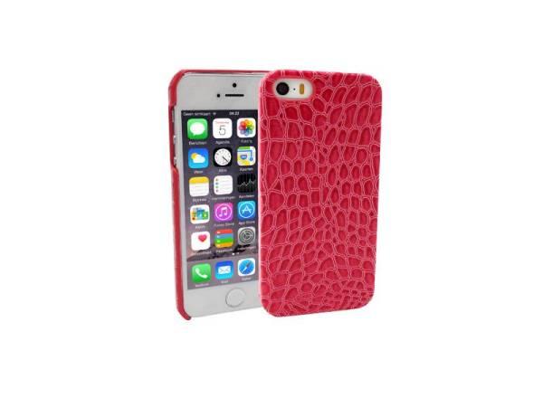 iPhone 5/5S Hardcover Case Hoesje Krokodil Roze