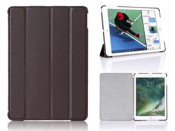 iPad 2017 Hoes / iPad Air Smart Case Kunstleder Bruin