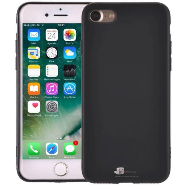 Elegant Ultradun iPhone 8/7 Hoesje Siliconen Mat Zwart