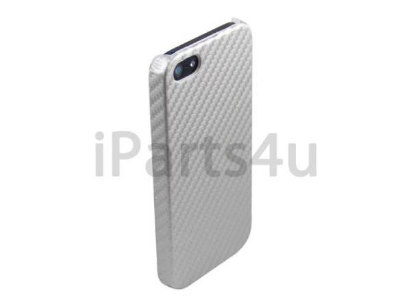 Carbon Hardcover case iPhone 5/5S Grijs