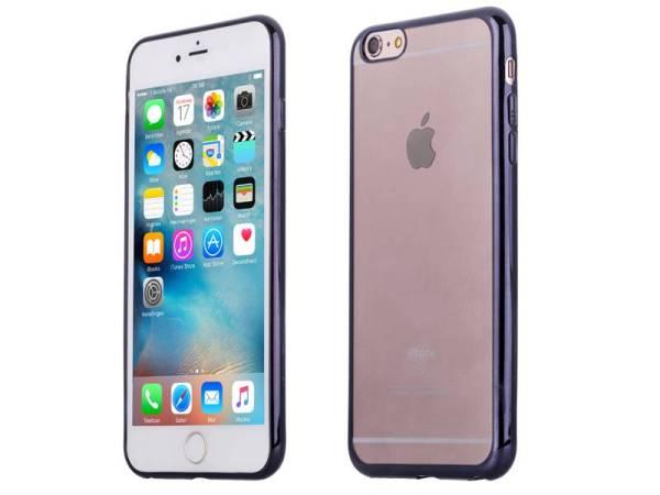 iPhone 6 6S Bumper Case Siliconen Ultradun Zwart