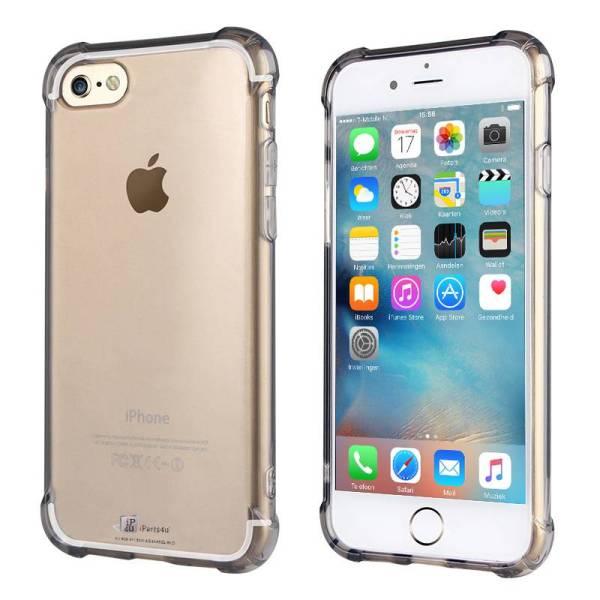 iPhone 6/6S Bumper Case Siliconen Shockproof Hoesje Zwart Transparant